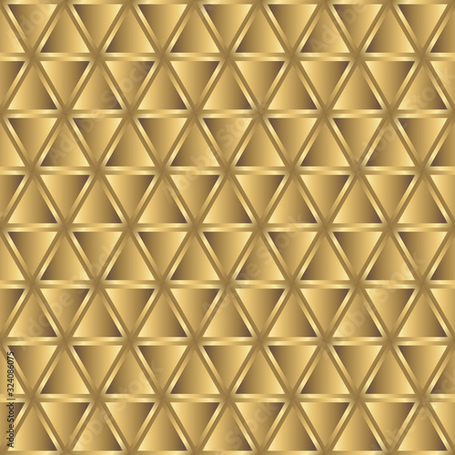 Photo Golden triangles seamless pattern. Eps8..