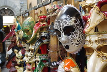 Colorful Masks In An Italian Market