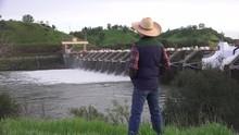 American River Dams Folsom And Nimbus Farmer Pondering
