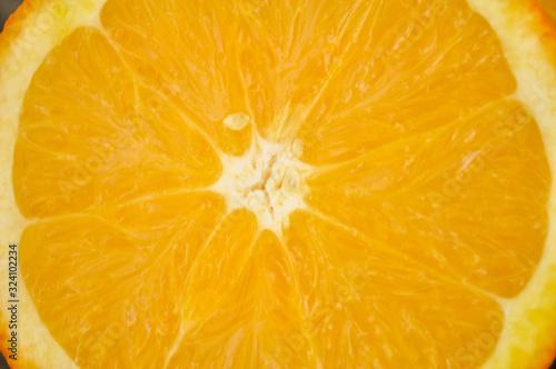 Sliced Orange Close-Up