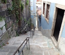 Steep Or Hilly Street Or Sidew...