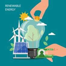 Renewable Energy Vector Concep...