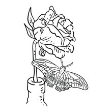 Vector Illustration Flower Wit...
