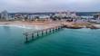 canvas print picture - Shark Rock Pier in Port Elizabeth, South Africa