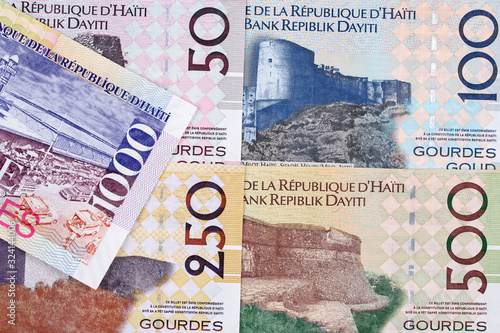 Haitian money - gourde a business background Canvas-taulu