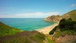 summer day california famous big sur bay beach panorama 4k time lapse usa