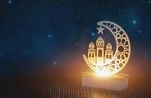 Ramadan Lamp Against Serene An...