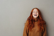 Laughing Young Woman With Viva...