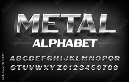 Fotografia Metal alphabet font