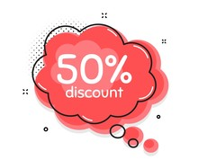 50% Discount. Thought Chat Bub...