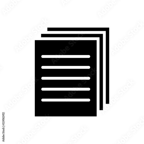 Fototapety, obrazy: document - billing icon vector design template