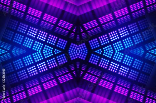 Tablou Canvas Dark abstract futuristic background