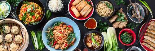 Fototapeta Assorted Chinese food obraz