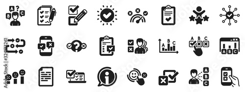 Photo Opinion, Customer satisfaction feedback and Test icons