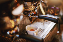 Close Up Of Espresso Machine W...