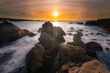 Monterey Coast At Sunset, Cali...