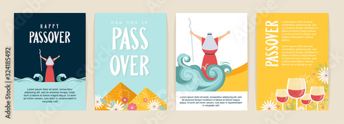 Fotografia Passover greeting card set