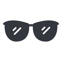 Vector Black Eyeglasses Icon