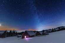 A Bright Starry Night In The M...