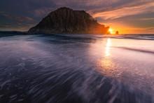 Morro Rock In Morro Bay Beach,...