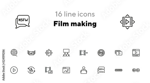 Fotografie, Tablou Film making icons
