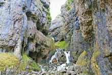 The Hiker's Approach Through Gordale Scar, Yorkshire Dales