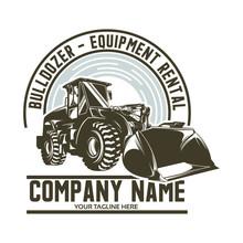 Bulldozer Logo Design Template Design Vector
