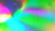 canvas print picture - Rainbow color holographic iridescent gradient. Hologram glitch. Light through a prism and smoke. Abstract background