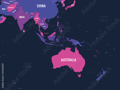 Foto Australia and Southeast Asia map