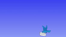 Blue Dove With Letter