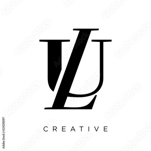 ul or lu logo design vector icon Fototapete