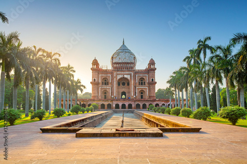Tomb of Safdarjung in New Delhi, India. It was built in 1754 in the late Mughal Empire