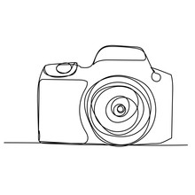 Single Line Drawing Of A Camera