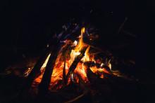 Beautiful Fire In The Night Fo...