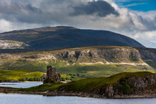 Ardveck Castle In Scotland By Loch Asstnt