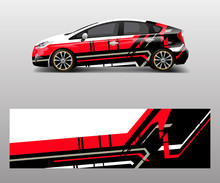 Racing Car Wrap. Abstract Stri...