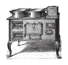 Old Kitchen Oven / Vintage Ill...