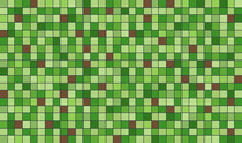 Abstract Green And Brown Pixel...