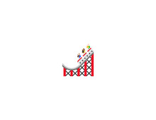 Roller Coaster Vector Flat Ico...