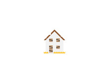 Derelict House Vector Flat Icon. Isolated Abandoned, Old House Emoji Illustration