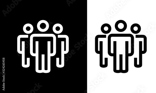 Canvastavla Manager and Corporate icons vector design black and white