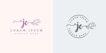 Initial Jc Feminine Logo Colle...