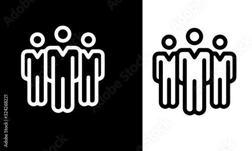 Office Icons. vector design black and white Wallpaper Mural