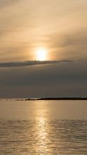 Emotional Shot Of A Bay At Sun...