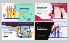 People Of Different Occupation Set. Team Of Builders, Reporters, Architects, Photographer. Flat Vector Illustrations. Professional, Job, Team Concept For Banner, Website Design Or Landing Web Page