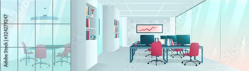 Obraz Vector of a modern office interior - fototapety do salonu