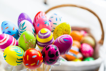 Easter Holiday Concept,Colorfu...