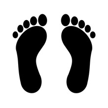 Human Footprints Icon. Raster ...