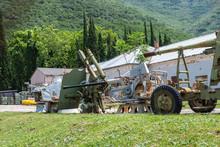 Old Rusty Guns At An Abandoned...