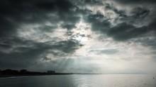 Sun Rays Shining Though Dramat...